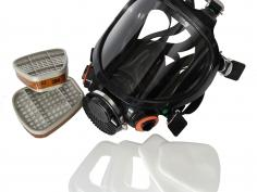 Full face mask 3M 7907 complete with filter set and storage bucket